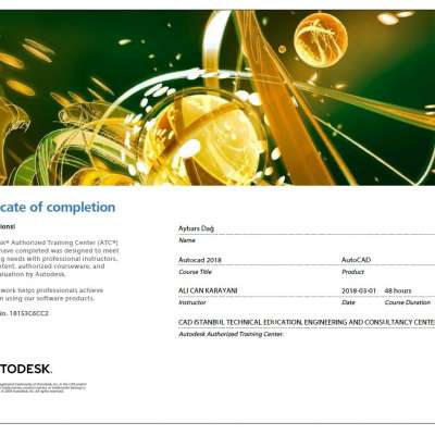 Autodesk AutoCAD Sertifikası