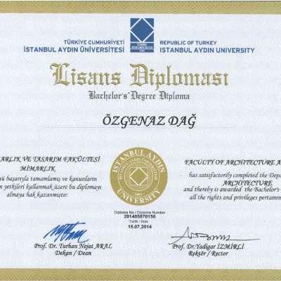 Mimarlık Lisans Diploması